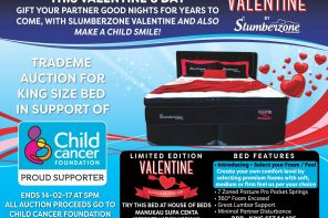SLUMBERZONE RAISES MONEY FOR CHILD CANCER FOUNDATION IN CHARITY AUCTION