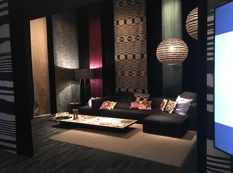 MISSONI LIVING - The fashion powerhouse stand came complete with neon lights and African drums, the distinctive Missoni style given a 3rd dimension.
