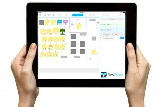 ResDiary system in use on an iPad.