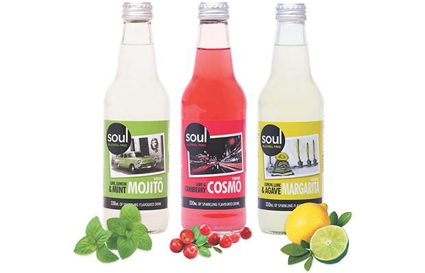 Bottles of Soul Beverages