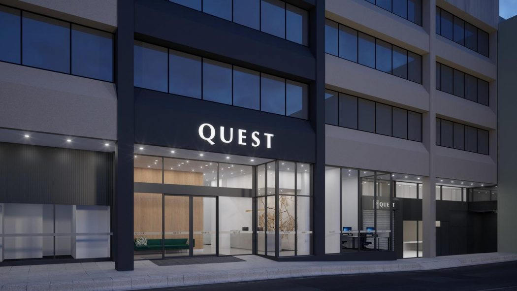 An artist's impression of Quest Canberra City Walk.
