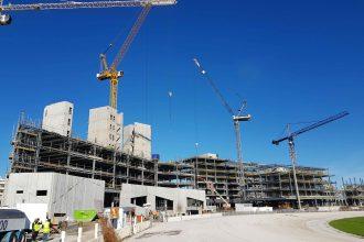 Alexandra Park racecourse in construction