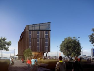 Artist's impression of Novotel Christchurch Airport