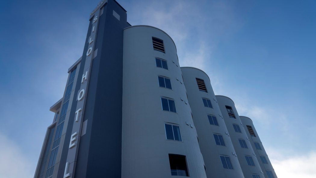 Outdoor photo of the Peppers Silo Hotel.