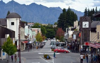 The streets of Queenstown.