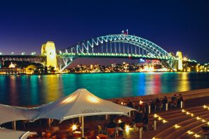 Sydney Harbour, a major tourist attraction.