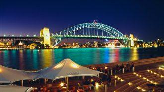 Sydney Harbour, a major tourist attraction.
