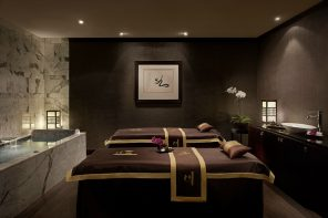 Dual treatment room at Chuan Spa, Cordis, Auckland.