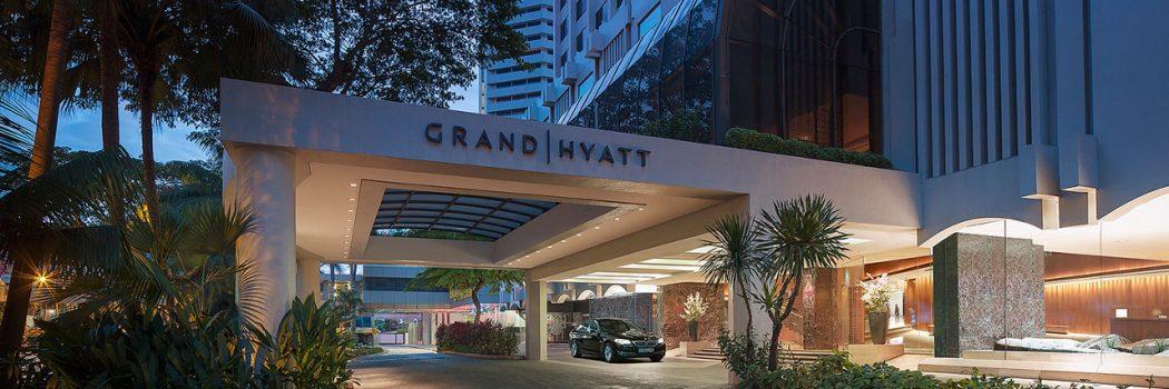 Grand Hyatt Singapore hotel exterior.