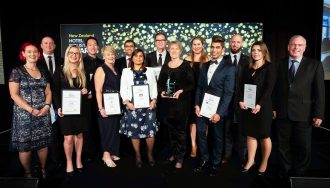 Award winners at the 2018 New Zealand Hotel Industry Awards.