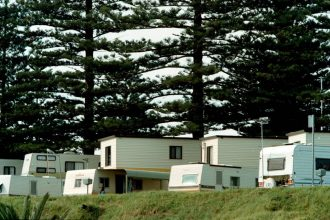 Caravans on-site at Werri Beach Holiday Park