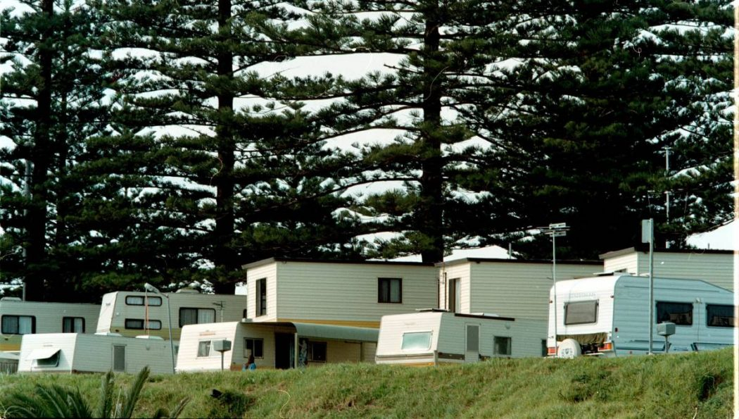 Caravans on-site at Werri Beach Holiday Park