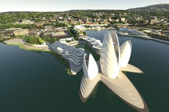 Artist's impression of the Dunedin Waterfront Project