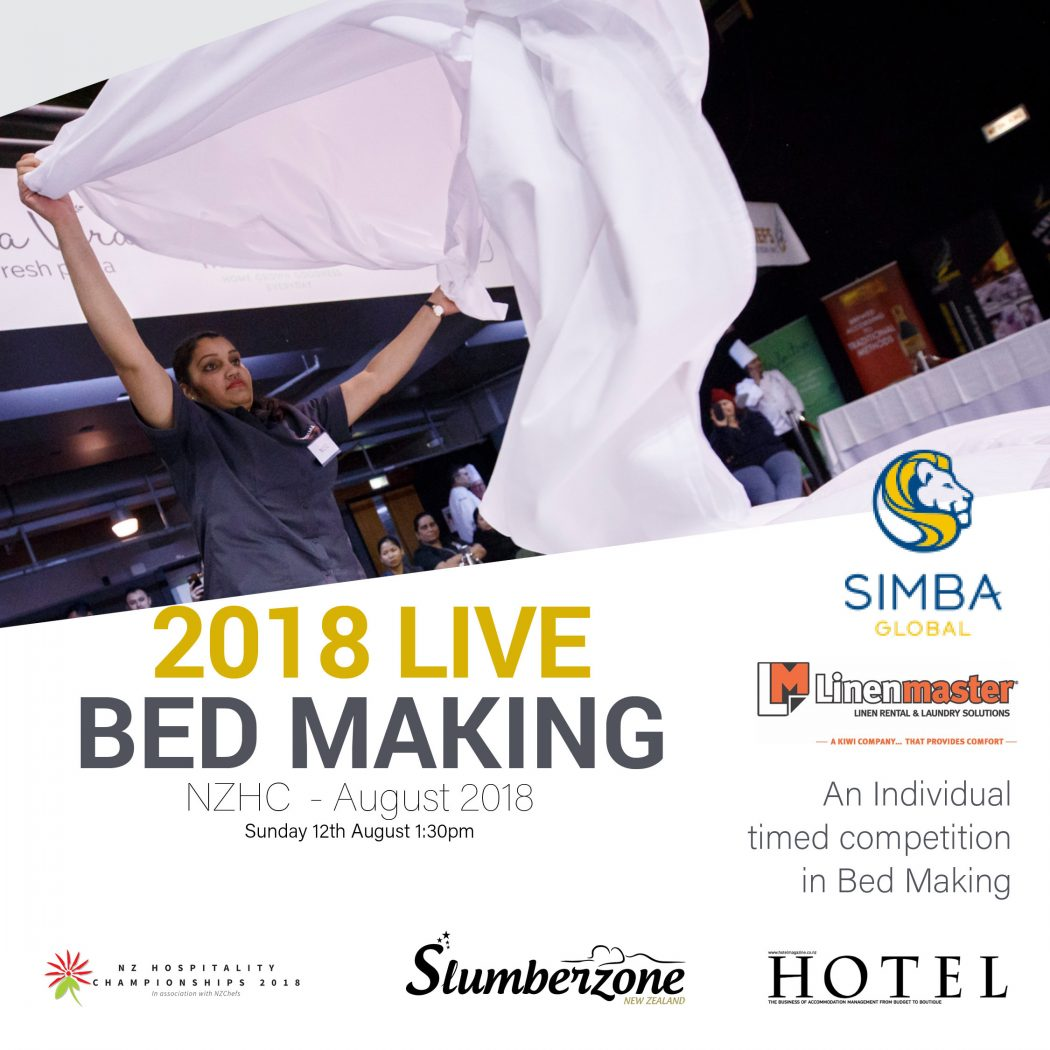 Bed making contest banner