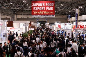 JAPAN'S FOOD EXPORT FAIR in action.