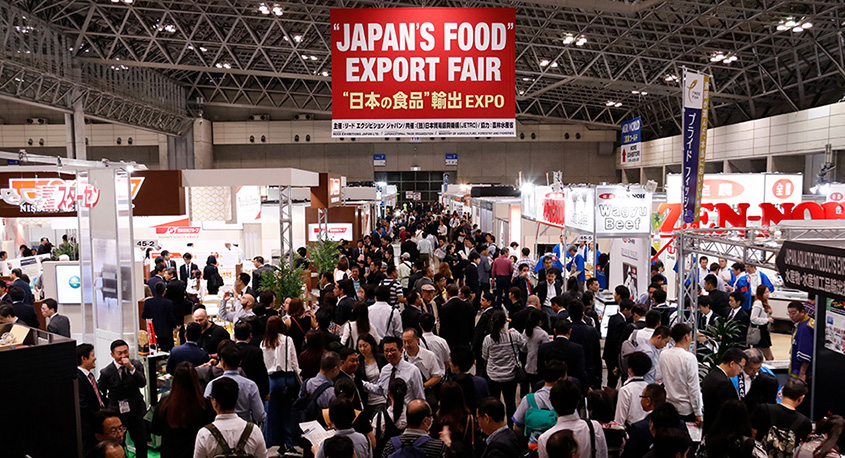 JAPAN'S FOOD EXPORT FAIR in action.