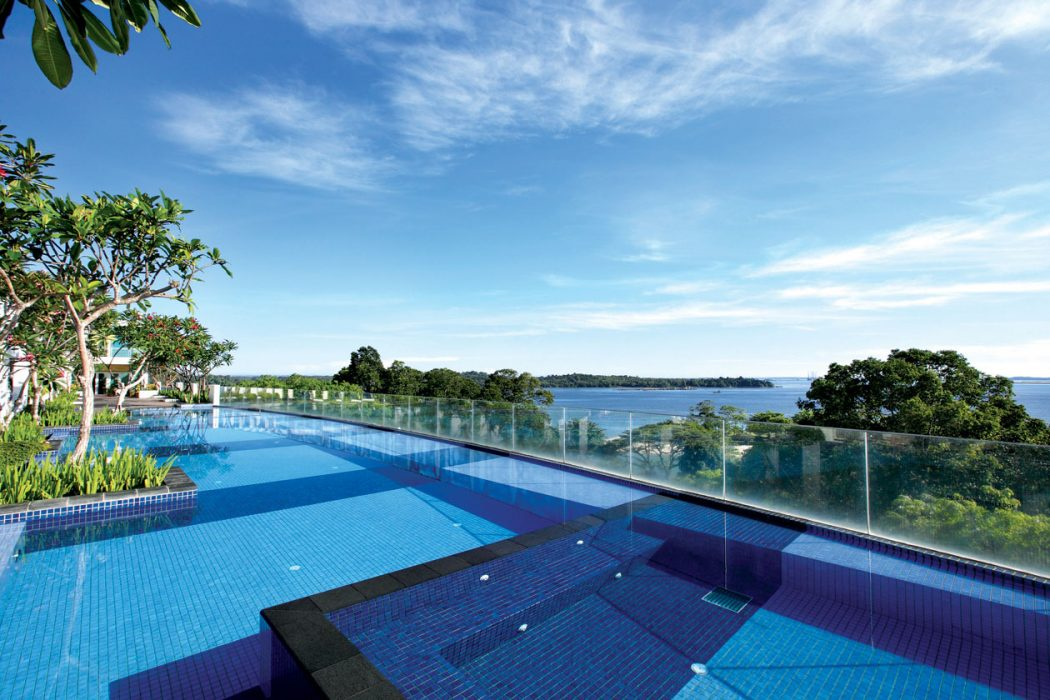 Village Changi backyard infinity pool.