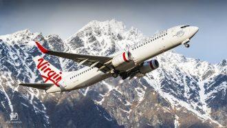 Trans-Tasman Virgin Australia aircraft in-flight.