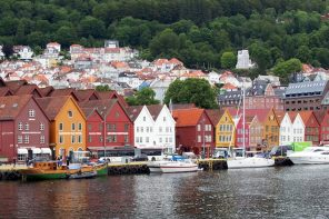 The town of Bergen, Norway