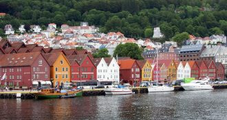 The town of Bergen, Norway