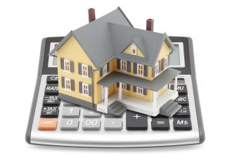 House on top of calculator.