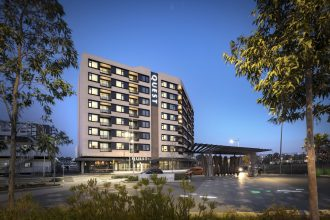 Quest Penrith apartments hotel artist's impression.