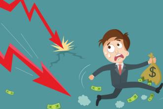 Market downturn illustration.