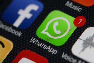 WhatsApp on a phone.