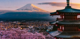 Mount Fuji landscape.