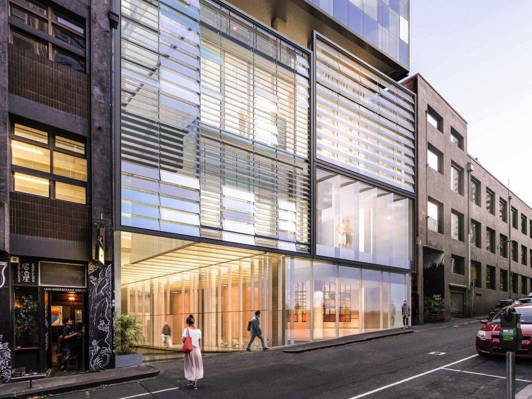 Artist's impression of the Novotel Central Melbourne exterior.