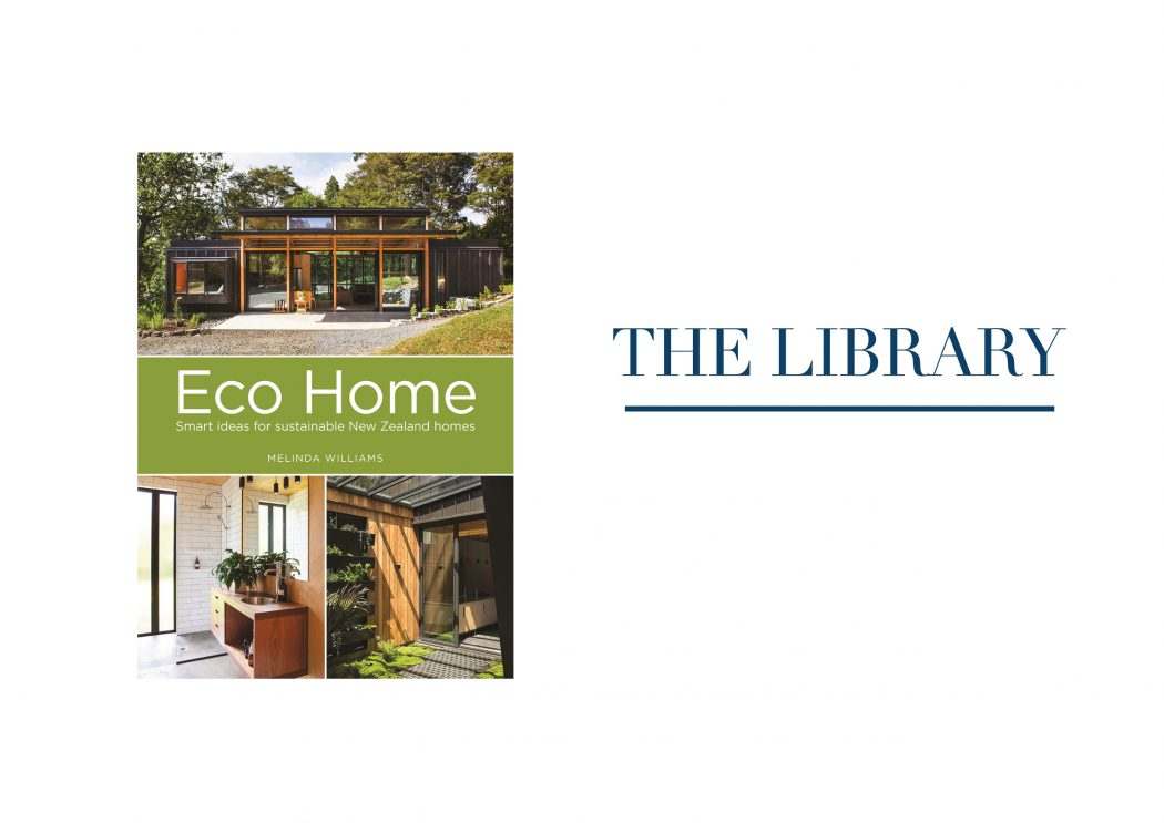 The Library banner with Eco Home front cover.