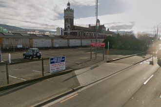 Thomas Burns St carpark in Dunedin