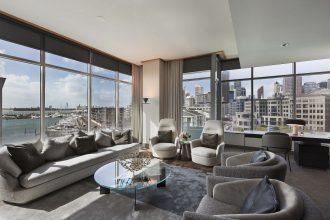Sofitel Auckland Opera Suite Lounge.