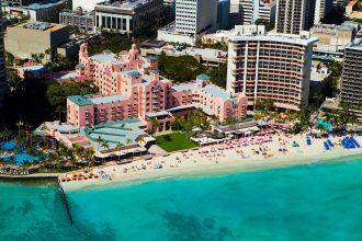 The Royal Hawaiian Hotel exterior.