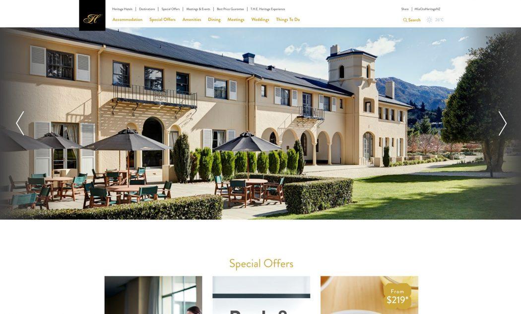 Heritage's new website design.