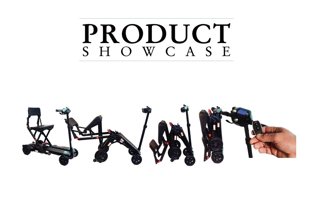 Product Showcase mobility scooter web banner.