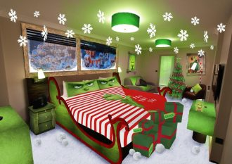 Grinch Christmas theme room.