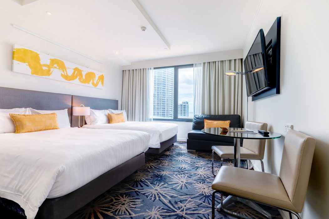Interiors of the voco Gold Coast room.