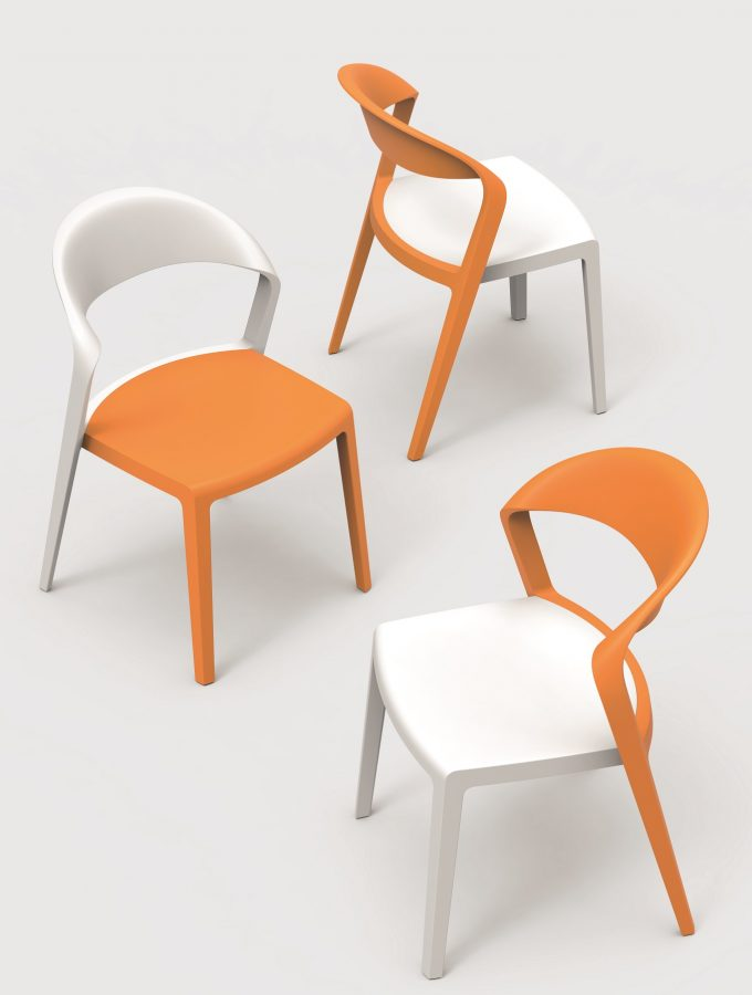 Buro stackable chairs.