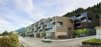 Artist's impression of the Central Queenstown hotel.