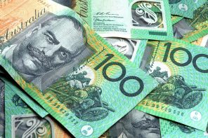 Australian $100 notes.