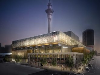 Artist's impression of the NZICC.