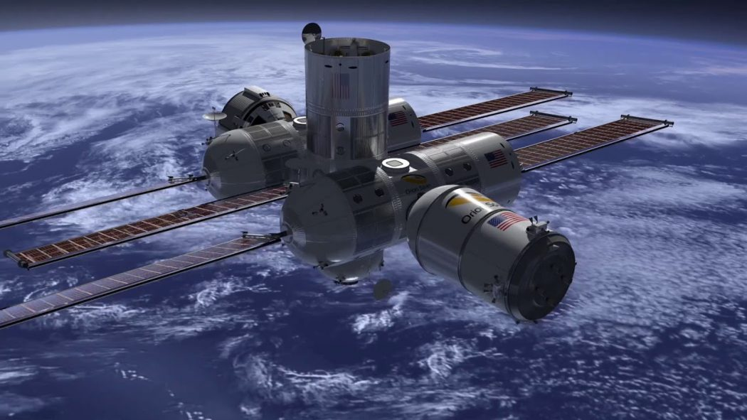 Orion Span artist impression up in space.