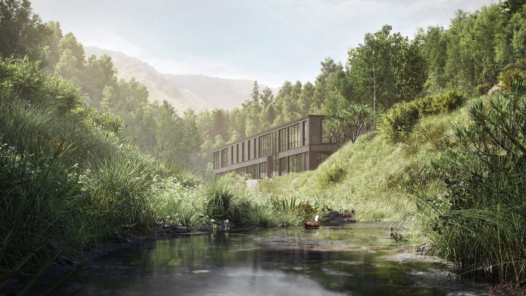 Artist's impression of the Waterfall Park hotel.