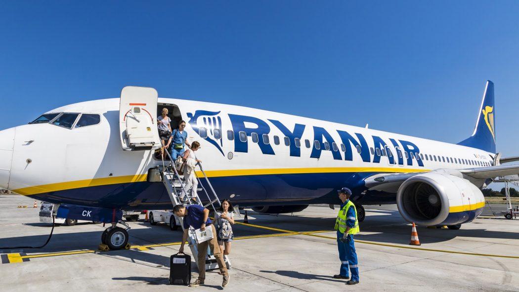 Ryanair aircraft.