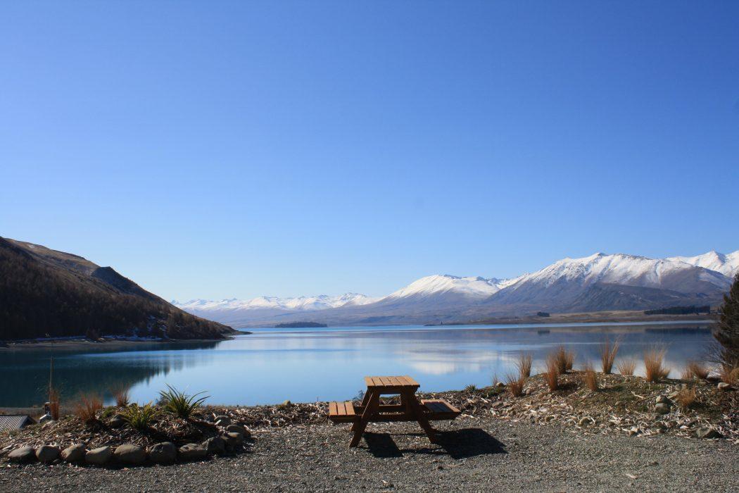 Lake Tekapo waterfront.