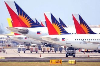 Philippine Airlines jets.