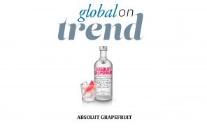 A bottle of Absolut Grapefruit