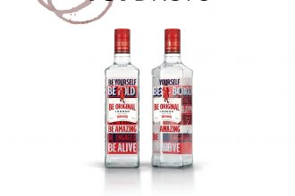 Bottle shot of the Beefeater Be Alive limited edition gin bottle