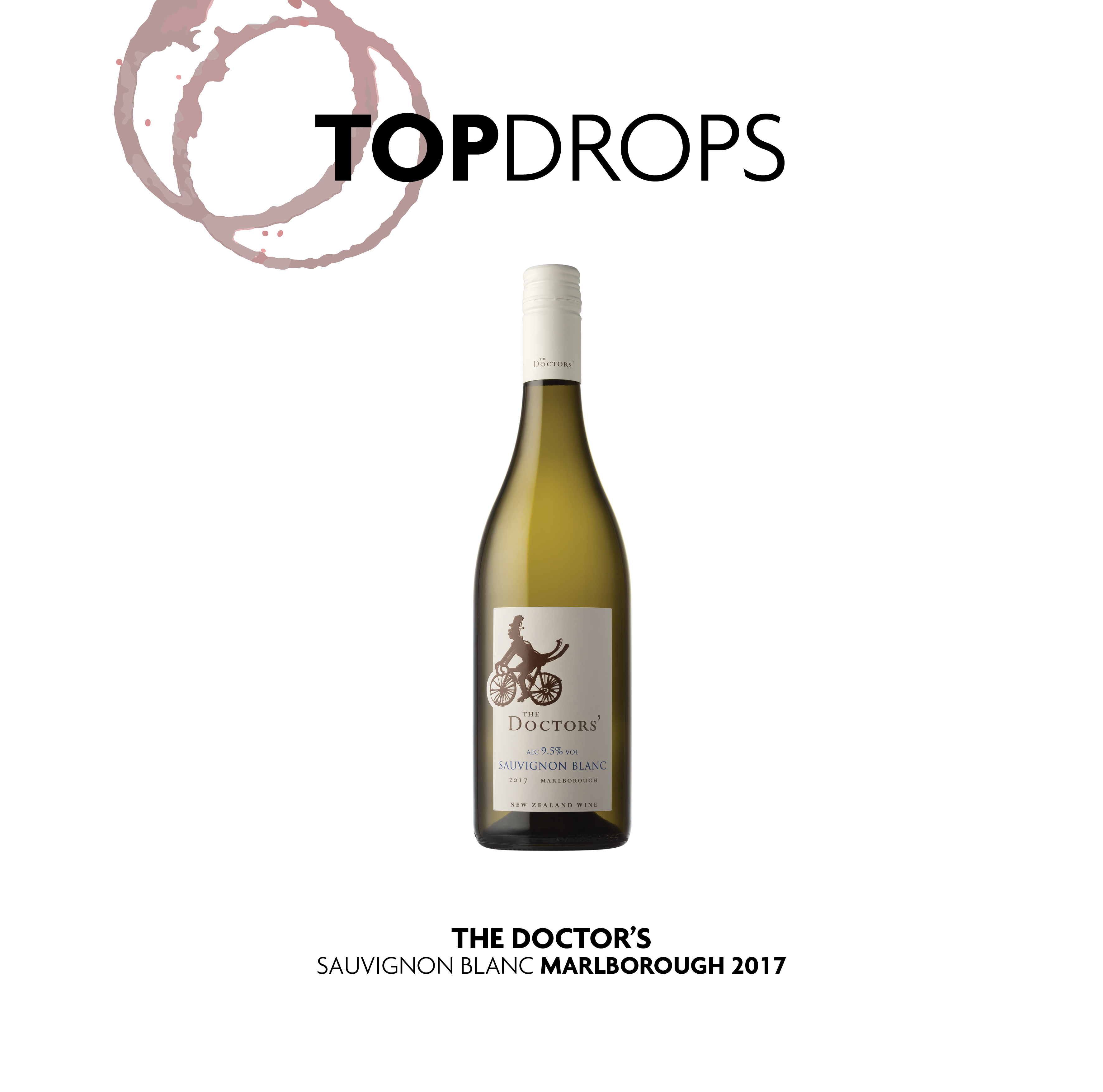 Bottle shot of The Doctors' Marlborough Sauvignon Blanc 2017